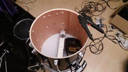 building wireless midi drum