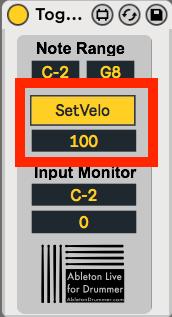 pre-set outgoing midi velocity