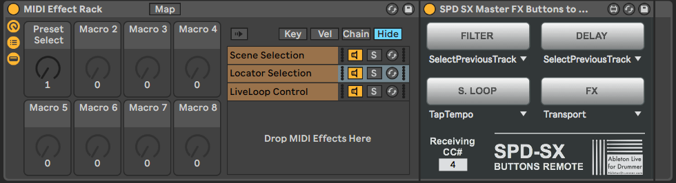 Group Max for Live devices in Ableton Live.