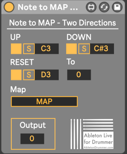 Set two directions for value change in ableton Live