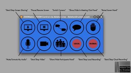 ZOOM meetings control via Ableton Live