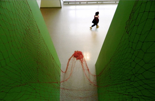 """19,200"" by Sienna Martz. Hand knotted polypropylene twine."