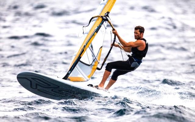 JP competing in Santander, Spain.