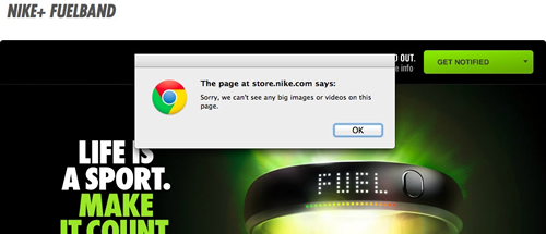Nike's Not So Pinterest Friendly Site