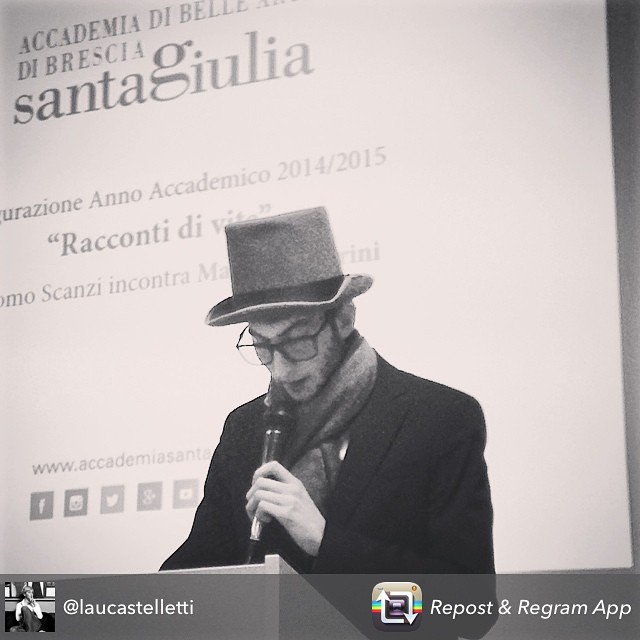 Aimo in uno scatto instagram del Vice Sindaco di Brescia Laura Castelletti