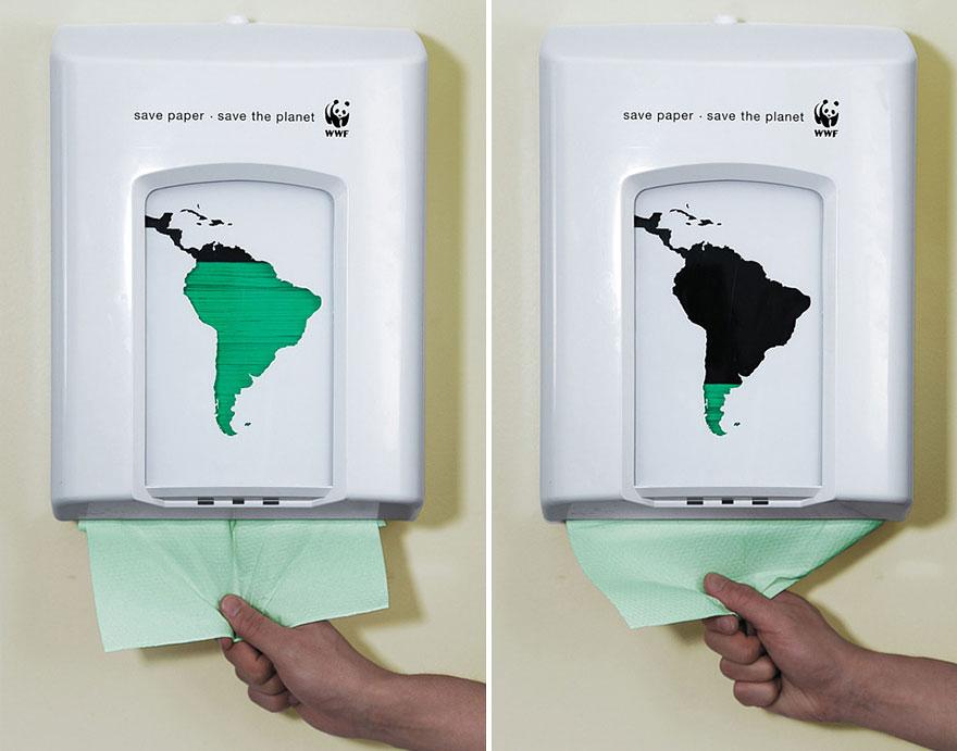 Esempio di comunicazione no-pro t sul consumo di carta