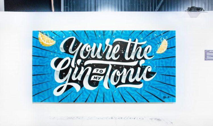 Murale realizzato da Stefan Kunz per Bombay Sapphire Gin