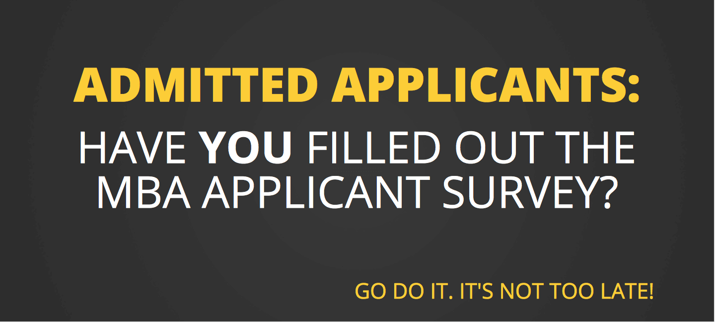 Have you filled out the MBA applicant survey?