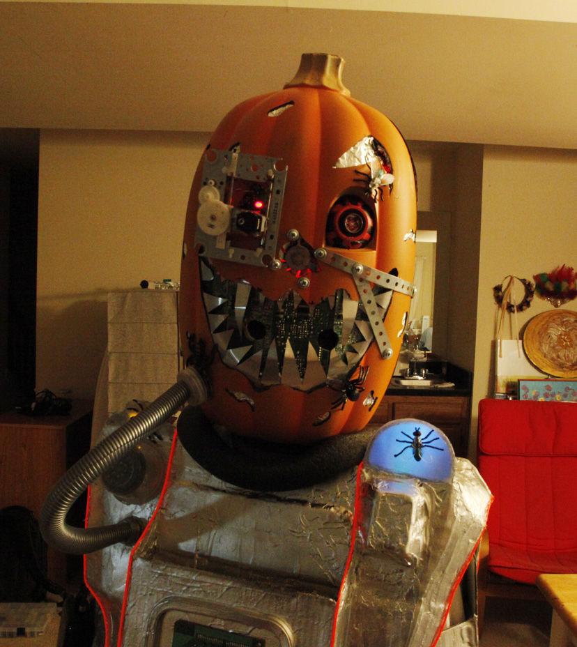 DIY Mutant Cyborg Pumpkin Halloween Costume Adafruit