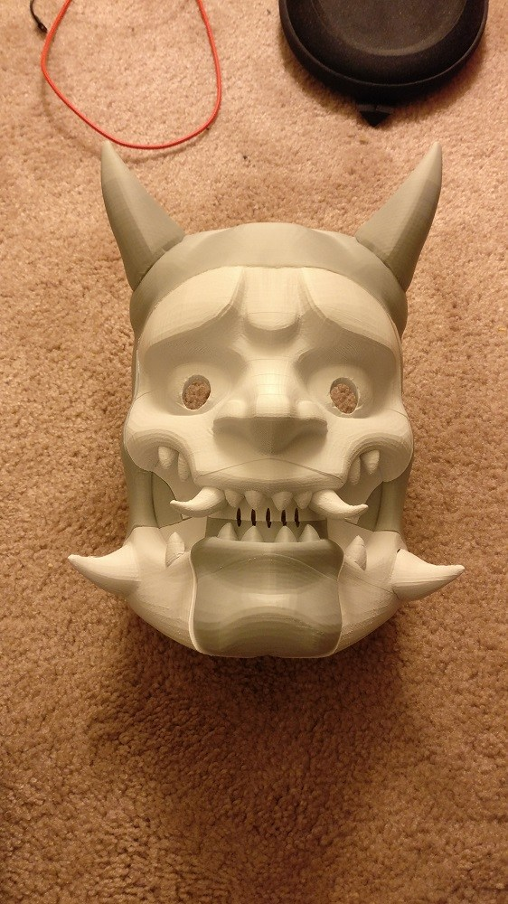 3D Printed Overwatch Genji Mask Adafruit Industries