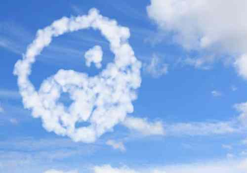 yang and yin symbol from cloud