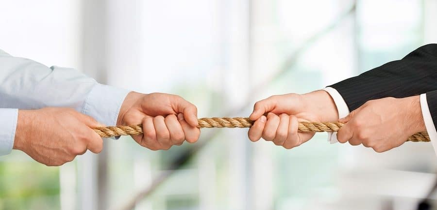 Conflict Tug-of-war Arguing Business Rope Pulling Fighting