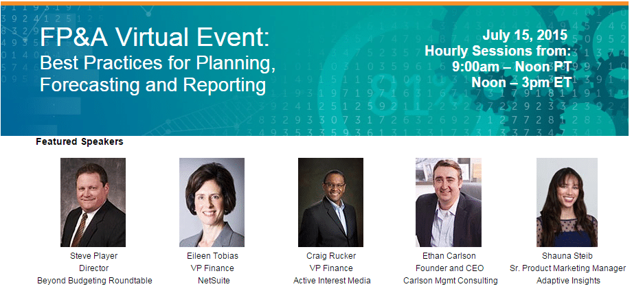 Click on the banner above to register for our virtual FP&A event on July 15!