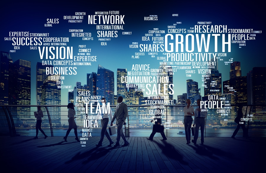 Global business growth concept
