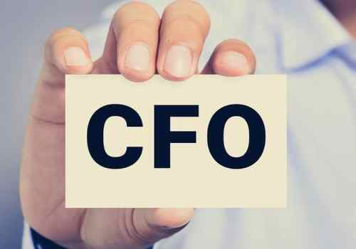 Cfo Letters (or Chief Financial Officer) On The Card Held By A M