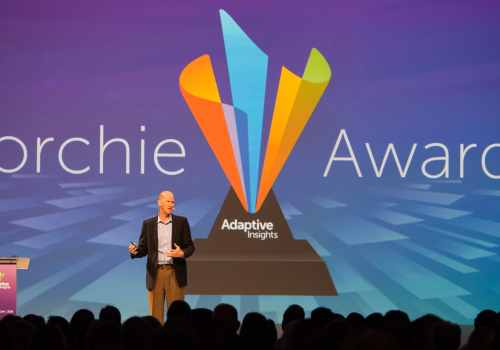 Founder, Rob Hull presenting Torchie Awards at Adaptive Live 2016