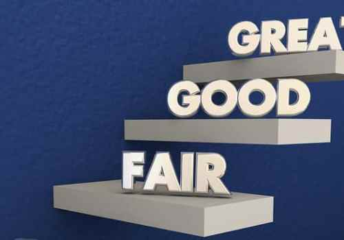 Poor Fair Good Great Grades Evaluation Steps 3d Illustration--CFOs
