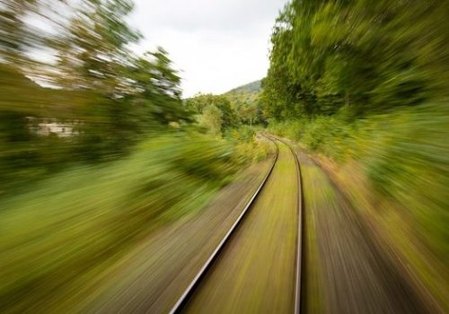 Speeding train, representing fast growth of CPM software