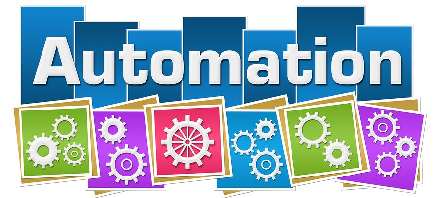 Automation concept image with text and gears symbols--automate financial consolidation