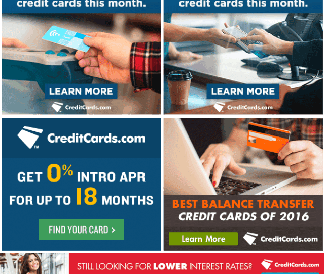 Balance Transfer Cards And 0 Apr Cards Credit Cards Standard Ad Creatives