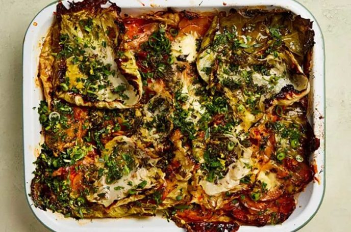 Herby Cabbage and Potato Gratin with Gruyère and Ricotta