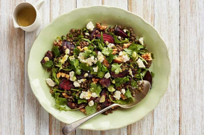 Lentil, Beet & Fetta Salad