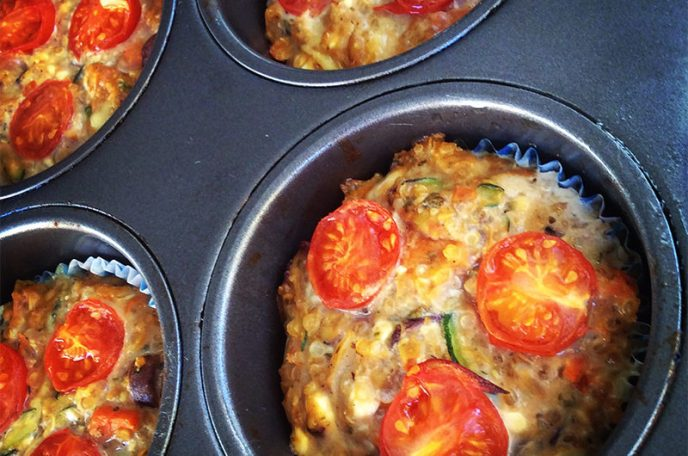 Cheesy Vegetable Quinoa Frittata (Savoury Muffin)