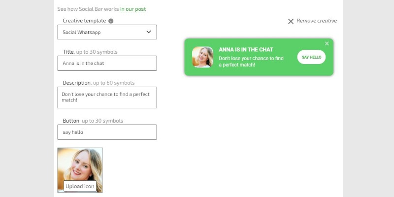 How to use social widgets by Adsterra for dating offers