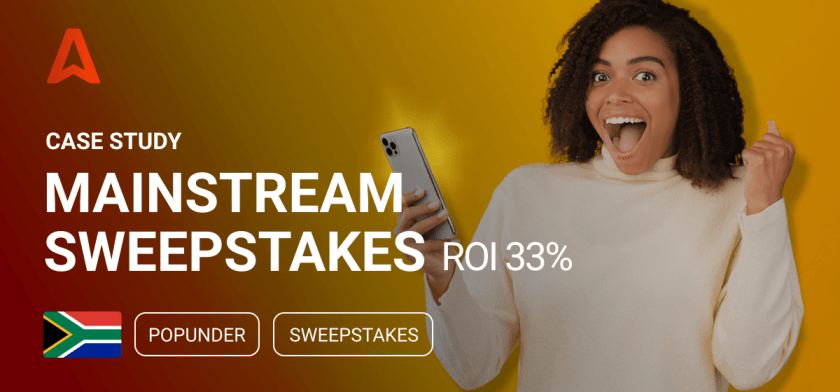 Running Sweepstakes offer on mobile popunder traffic