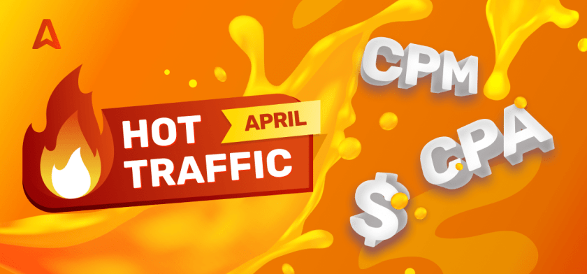 Top traffic for affiliate marketing offers April 2021