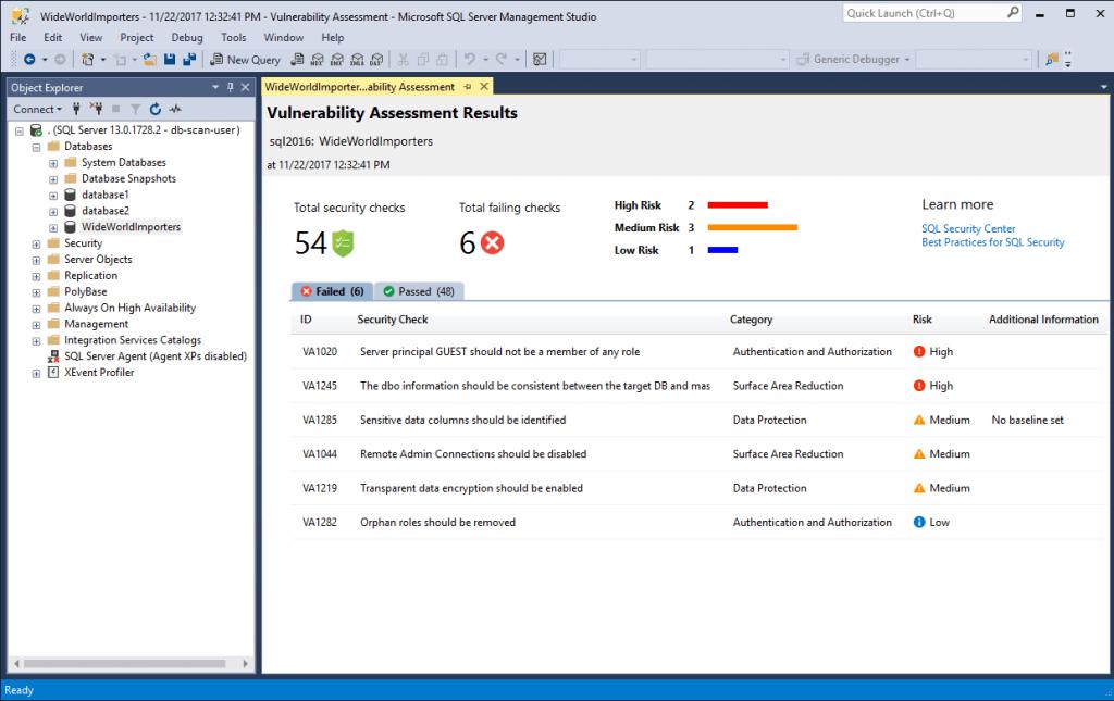 SQL Vulnerability Assessment