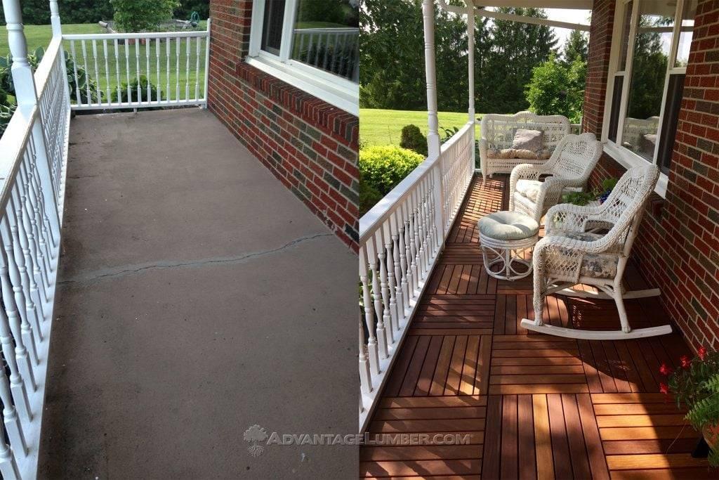 deck over a concrete porch