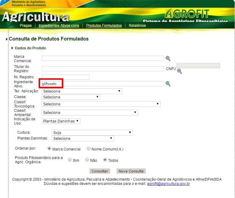 lista de defensivos agrícolas na agrofit