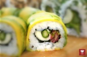 Tem sushi para veganos