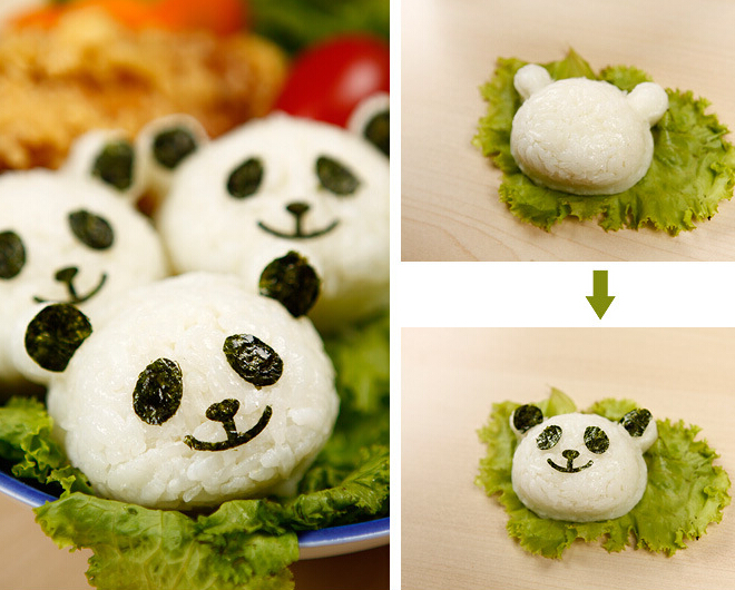 Onigiri de panda - obentô