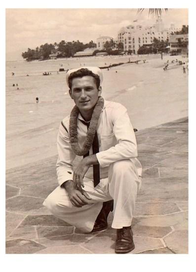 My dad in 1944, Pearl Harbor