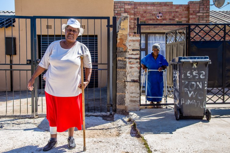 Gogos by Chris Kirby. 'Gogos' is the Zulu name for grandmothers or 'grannies' in South Africa. In the townships of South Africa, gogos are much respected and play a vital role in family life.