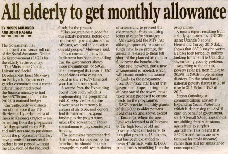 Uganda pension news