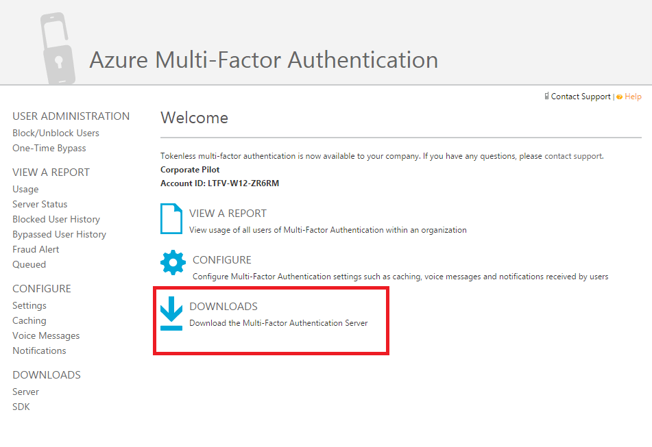 Azure Multi-Factor Authentication server 6