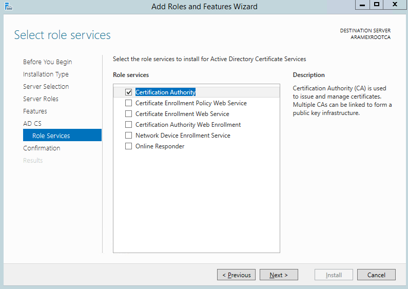 Migrate your certification authority root CA to Windows 2012 R2 8