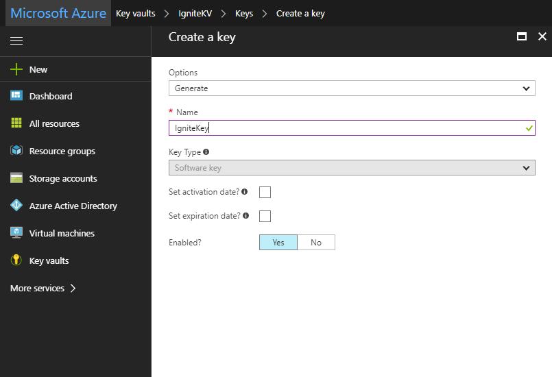 Azure key vault with PowerShell 4