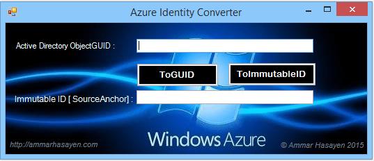 Azure AD GUID to Azure AD ImmutableID converter 4