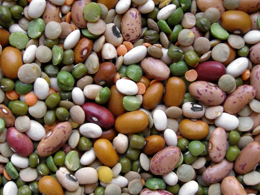 Beans dry mixed