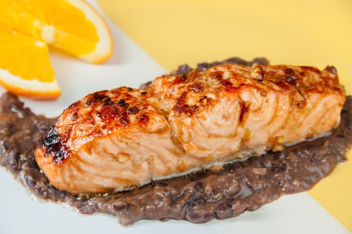 Garlic Salmon with Black Bean Sauce: Photographs by Heather Victoria Photography