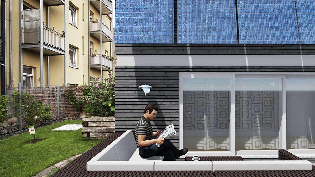 Mobiles Haus im Garten Mobil Wohnen