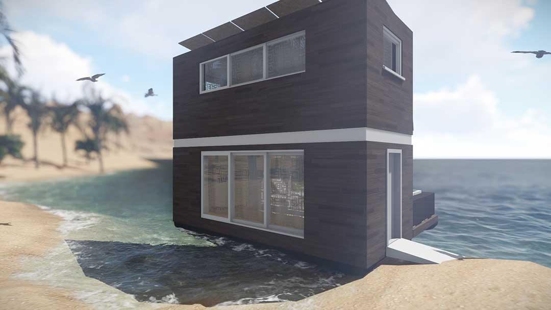 Mobiles Haus am Strand Mobil Wohnen