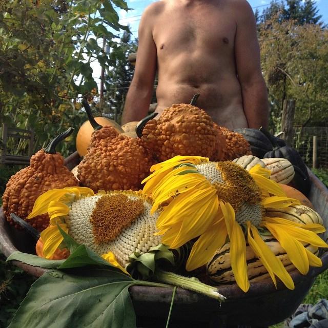 my naked gardener with the wheelbarrow load aimee cartier blog