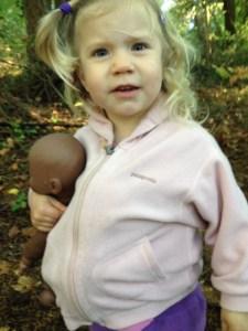Atalie pregnant (age 2)