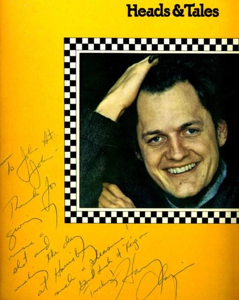 HaryChapinAutographToJohnStJohnWKBO.1974