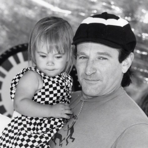 Robin Williams with daughter Zelda ~ his final Instagram post